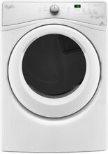 Electric Vented Dryer 7 4 cu  ft  240 Volt Stackable White with Moisture Sensing
