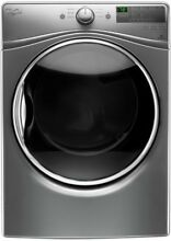 Whirlpool 7 4 cu  ft  240 Volt Stackable Chrome Shadow Electric Vented Dryer