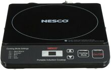 Nesco 10 in  Portable Induction Cooktop in Black with 1 Element