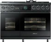 Dacor Modernist DOP48M96DLM 48 In Freestanding Dual Fuel Range Graphite Nat Gas