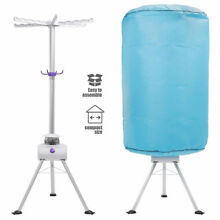 Portable Ventless Clothes Dryer Set Folding Wrinkle Laundry Hot Air Machine