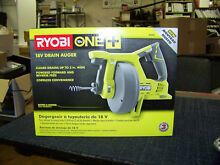 RYOBI one  18v drain auger cordless battery   charger sold seperately