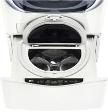 LG Electronics 27 in  1 0 cu  ft  SideKick Pedestal Washer in White