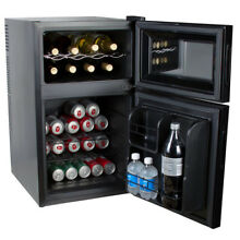 Kalorik 2 in 1 Beer or Soda and Wine Fridge Cooler  Black  WCL 42513 BK