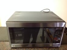 LG LCRT2010BD 1200W 2 0 Cu Ft Full Size Black Stainless Steel Microwave   Dented
