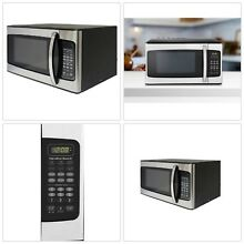 Kitchen Compact Microwave Oven Dorm Stainless Steel Cooking Warm Hamilton Beach