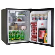 Mini Compact Fridge Small Stainless Refrigerator Dorm Office Fridges Freezer 2 6