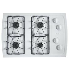 Whirlpool 30 in  Gas Cooktop in White with 4 Burners