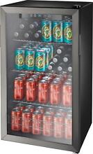 Insignia  115 Can Beverage Cooler   Black stainless steel