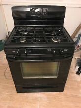 Kenmore stove and convection oven  all black  great working condition