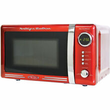 Nostalgia RMO770RED Retro 0 7 Cubic Foot Microwave Oven Kitchen or Dorm 700W NEW