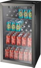 New Sealed Insignia  115 Can Beverage Cooler   Black stainless steel