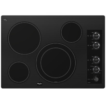 Whirlpool Gold Smooth Surface Electric Cooktop  Black  30 in G7CE3034XB00