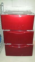 Kenmore 27  laundry Pedestal Pull out storage for Washers   Dryers Red LG ETC