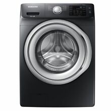 Samsung WF45N5300AV 4 5 Cu  Ft  8 Cycle Front Loading Washer Black stainless