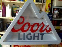 Coors Light Mountain Shaped Stainless Steel Mini Fridge Cooler with LED Light