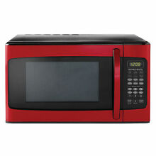 Hamilton beach 1 1 cu ft  Kitchen Microwave Oven Stainless Steel LED Display Red