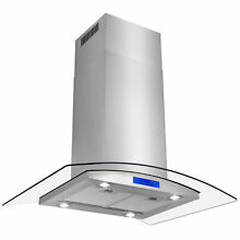 New 36  Island Stainless Steel Glass Range Hood Stove Vents Kitchen Cooking    3