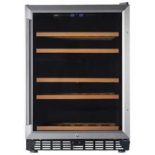 Lanbo 24  Built in Under Counter Wine Refrigerator  46 Bottle Dual Zone Compress