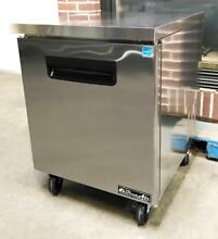 BLUE AIR BAUR28 RESTAURANT KITCHEN EQUIPMENT 2 DOOR UNDER COUNTER REFRIGERATOR