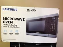 Samsung MS19M8000AS   1 9 Cu  Ft  Full Size Microwave    Stainles steel   Black