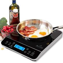 Portable Induction Cooker Top Hob Table Single Plate Electric Digital LCD 1800W