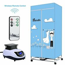 Bairuifu Portable Ventless Clothes Dryer with Heater Intelligent Wireless Rem