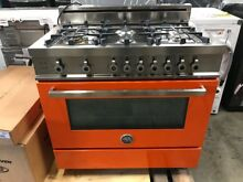 Bertazzoni Professional Series 36  Orange Gas Range PRO366GASAR