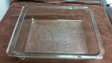 Vintage refrigerator glass drawer  14 x 11 x 3    on glass 3782 used GE