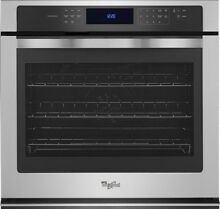 Whirlpool 30  5 0 Cu ft Stainless Single Electric Wall Oven WS97ES0ES  25833