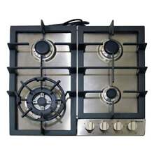 Magic Chef Gas Cooktop 24 in  5 000 Up to 16 000 BTUs 4 Burners Stainless Steel