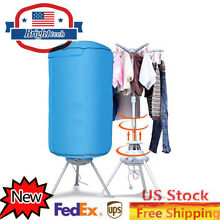 Portable Electric Clothing Dryer Heater Folding Drying Rack 900W Blue US