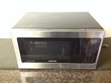 Samsung MG11H2020CT 1 1 cu  ft  Countertop Grill Microwave Oven Black   Dented