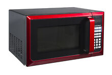 Red Microwave Oven 0 9 cu ft  900W LED 10 Power Levels Hamilton Beach New