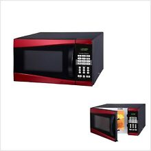 Hamilton Beach Red 0 9 cu ft 900W Coffee Popcorn Microwave FREE SHIPPING