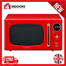 Daewoo KOR9LBKRR 20L Touch Control Microwave  Eco Mode  800w In Red   Brand New