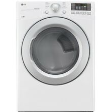 LG 7 4 cu ft Stackable Electric Dryer  White  ENERGY STAR