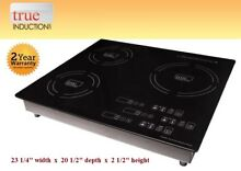 Cooktop True Induction TI 3B   Triple Burner Cook top   Counter Inset Model TI3B