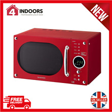 Daewoo KOR8A9RDR Retro Design Digital Microwave 800w 23L In Red   Brand New