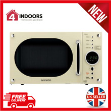 Daewoo KOR8A9RCR Retro Design 23L Microwave 800w In Cream   Brand New
