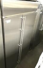 48  GE monogram stainless steel side by side built in refrigerator 00020030