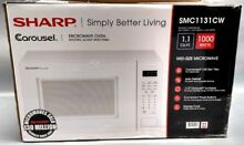 Sharp Carousel 1 1 Cu  Ft  Countertop Microwave