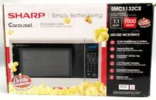 Sharp Carousel 1 1 Cu Ft  1000W Countertop Microwave Oven Black