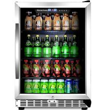Sinoartizan Compressor Beverage Cooler 24 inch Single Zone Built in and Frees