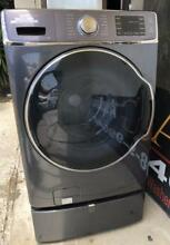 Samsung 5 6Cu  Ft  15 Cycle High Efficiency Steam Front Loading Washer Onyx 0003