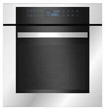 Empava 24  Stainless Steel LED Control Panel Electric Built in Single Wall Oven