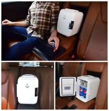 Car Mini Fridge Portable Electric Cooler   Warmer 4 Liter 6 Can USB AC DC New