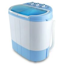 Compact Washer Dryer Apartment Laundry Load Machine Portable Size Spin Top White