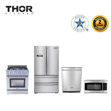 Thor Kitchen 4 piece package 30 dual fuel range 36refrigerator 30microwave oven