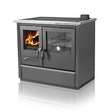 Wood Burning Cook Stove North Black   Right flue